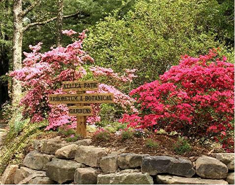 Entrance to Azalea Path Arboretum and Botanical Gardens