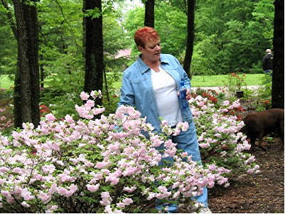 Beverly Knight and one of her Azaleas