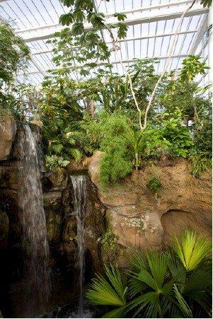 Waterfall at Mesker Zoo Botanic Garden